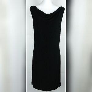 Chico's Travelers sleeveless black midi dress sz 1